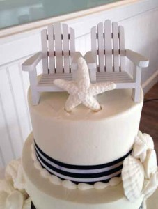 Cape Cod Chairs on Top of Wedding Cake