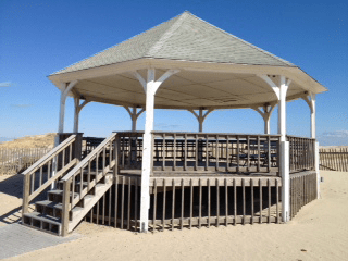 orleans wedding ceremony locations gazebo at nauset beach orleans cape cod weddings at nauset gazebo in orleans ma